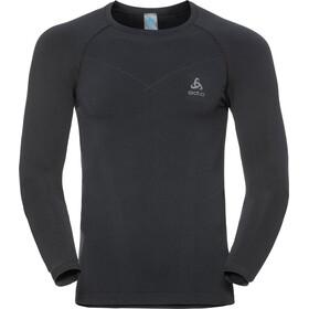 Odlo Evolution Warm LS Crew Neck Shirt Men black/odlo graphite grey